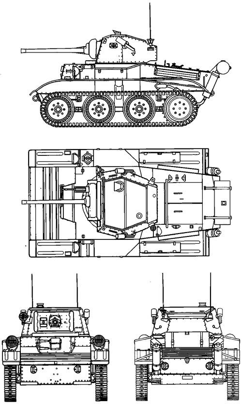 A17 Tetrarch Vickers Light Tank Mk VII