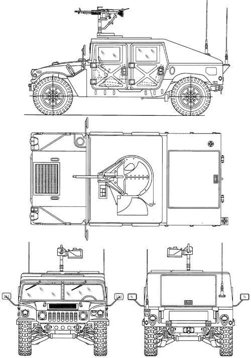 AM General HMMWV M1025 M60 7.62mm