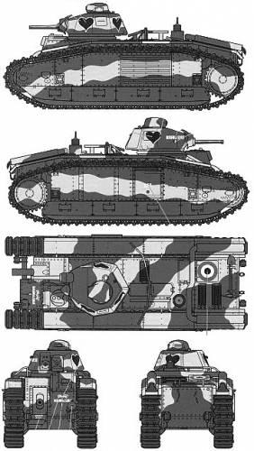 B1 Bis Tank (France) (1936)