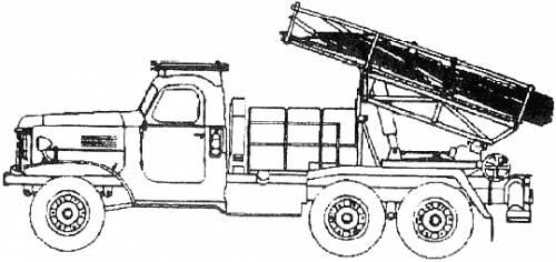 BMD-20 200mm MRL - ZIL-157 (USSR)