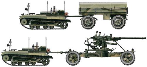 C2P Light Artillery Tractor + 40mm Bofors