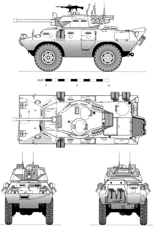 Cadillac-Gage V-150 Commando 90mm (1972)