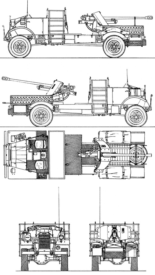 CMP Chevrolet 30cwt 4x4 lwb + 5cm Pak38