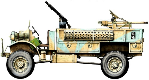 CMP Ford F30 + 37mm Breda LRDG