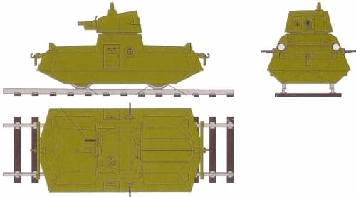 D-37 Armored Self-Propelled Railroad Car