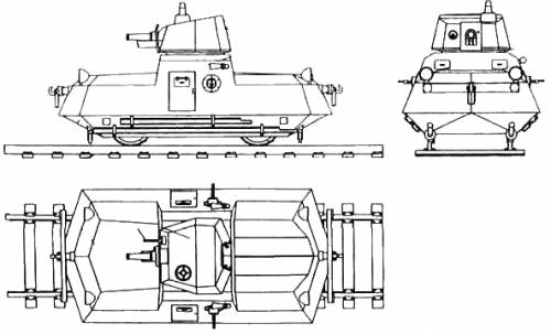 D-37 Armoured Self Propelled Railroad Car + D-38 Turret