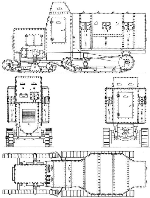 Daimler Marienwagen I mit Panzeraufbau
