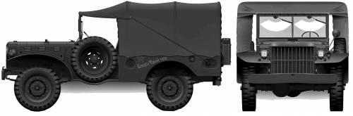 Dodge WC51 0.75-ton 4x4 Weapons Carrier (1943)