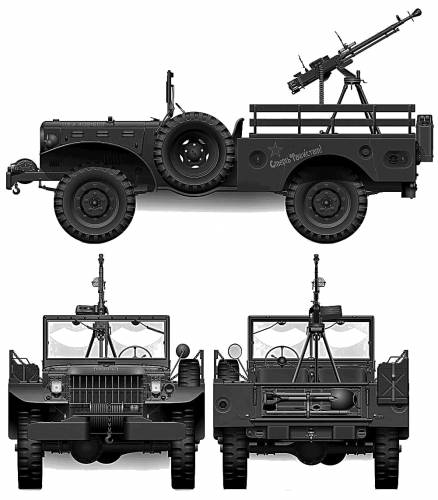 Dodge WC52 0.75-ton 4x4 Weapons Carrier (1943)