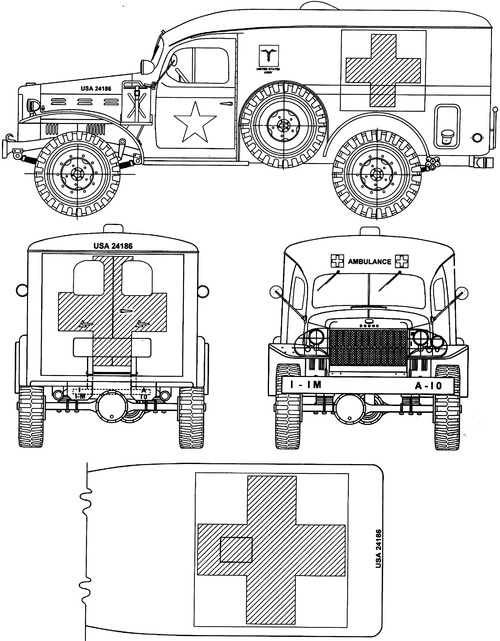 Dodge WC-54 0.75 ton 4x4 Ambulance