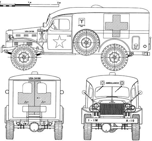 Dodge WC-54 0.75 ton 4x4 Ambulance