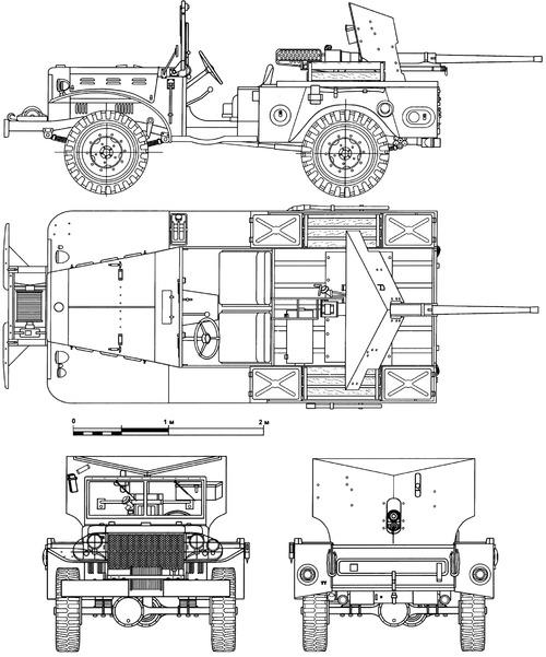 Dodge WC-55 0.75 ton 4x4 M6 37mm GMC