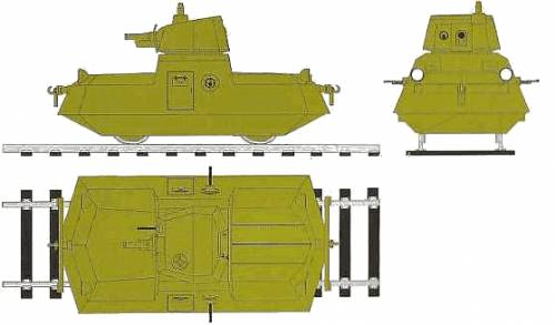 DT-45 Armored Self-Propelled Railroad Car