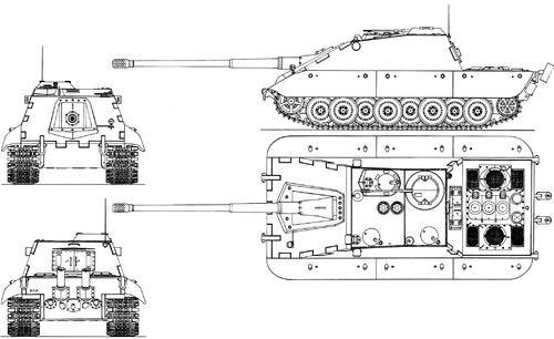 E-100 12.8cm KvK Kampfwagenvernichter Ausf.F Krokodil