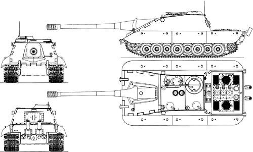E-100 17cm KvK Kampfwagenvernichter Ausf.F Krokodil