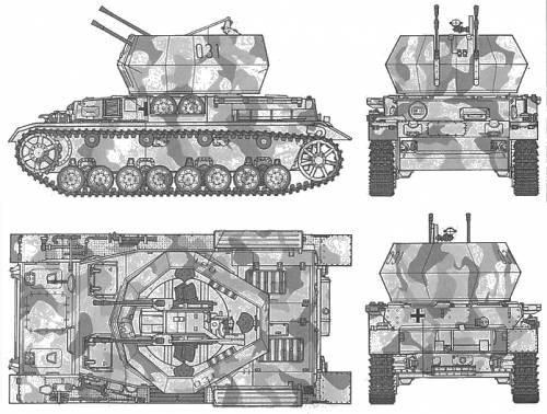German Flankpanzer IV Wilbelwind