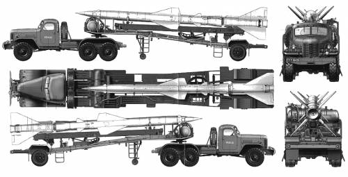 HQ-2 Missile Transport Trailer (ZIL-157 SAM-2}