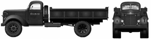 International KR-11 5-ton 4x2 Dump Truck (1942)