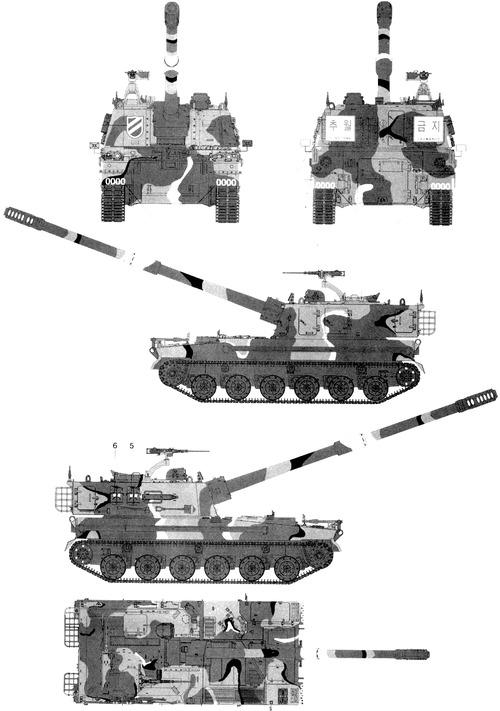 K9 155mm SPG