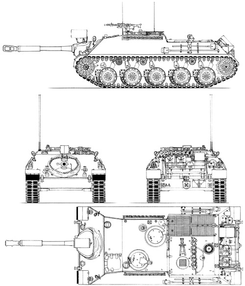 Kanonenjagdpanzer 4-5 Jagdpanzer Kanone 90mm