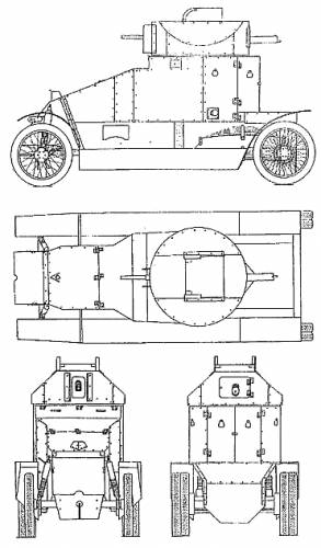 Lanchester 4x2 Armoured Car (1915)