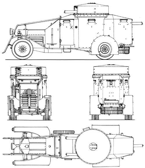 Lancia 1ZM Armoured Car 1917