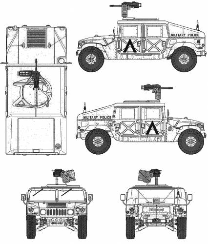 M1025 Humvee Weapon Carrier