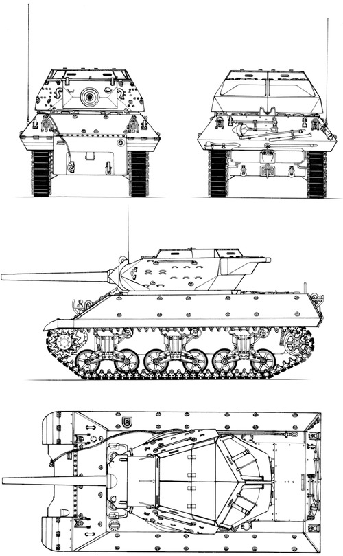 M10 3-inch Gun Motor Carriage Wolverine (late)