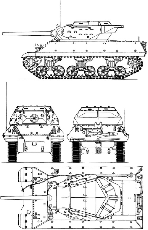 M10 3-inch Gun Motor Carriage Wolverine (Late Modified)