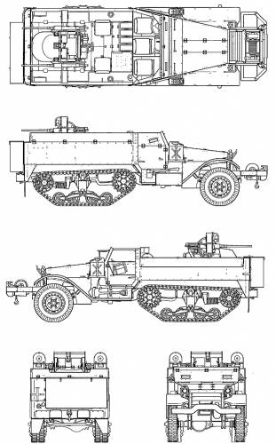 M14 Half Truck Multiple Gun Motor Carriage