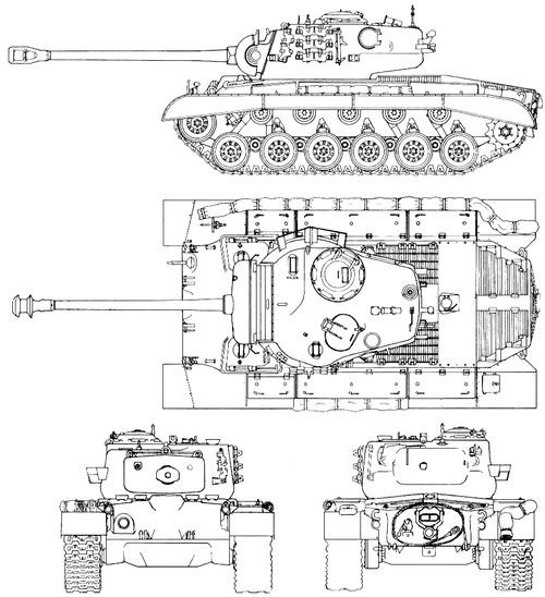 Blueprints > Tanks > Tanks M > M26 Pershing