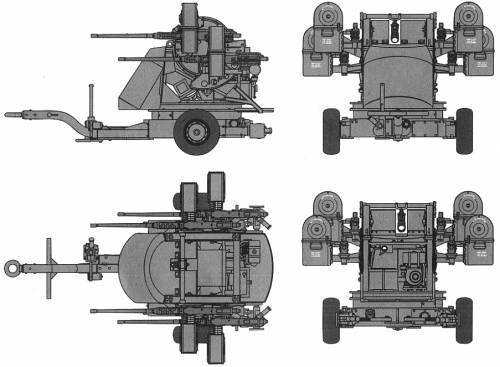 M55 AA Quad Gun Trailer