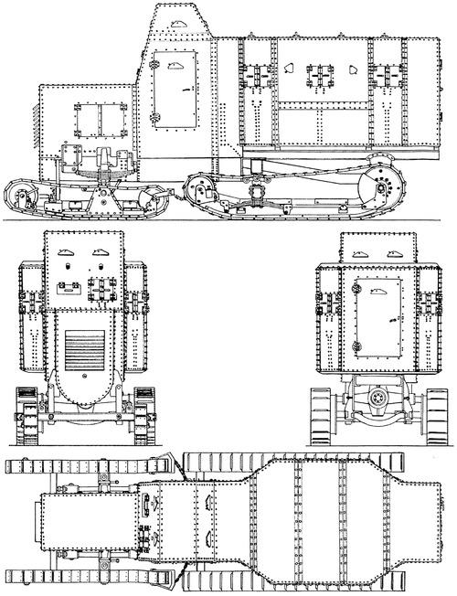 Marienwagen I mit Panzeraufbau