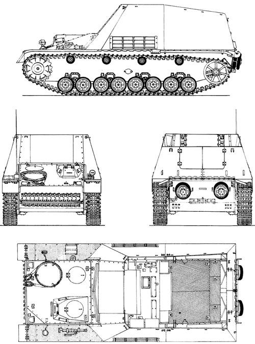 Munitionstrager auf Geschutzwagen III-IV (Sf) Hummel