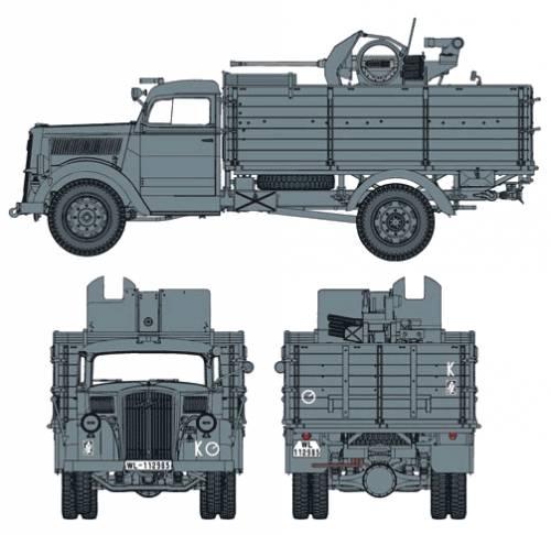 Opel Blitz 2cm FlaK38