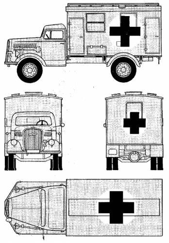 Opel Blitz 3ton 4x2 Ambulance