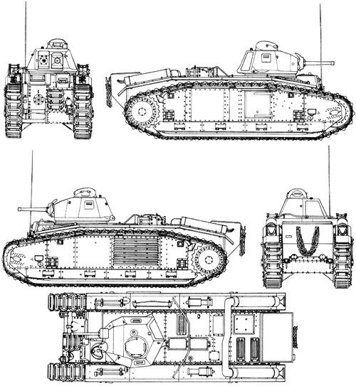 Renault Char B2 bis Flammpanzer