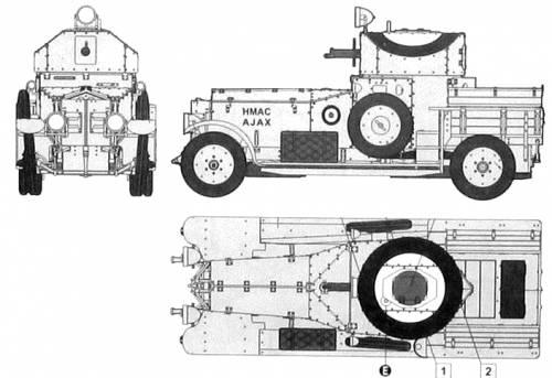 Rolls Royce Armoured Car Pattern Mk.I (1920)