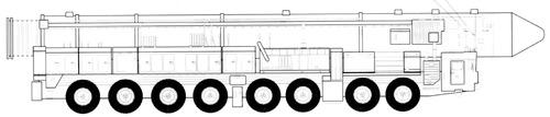 RT-2UTTKh Topol-M SS-25 Sickle on MZKT-79221