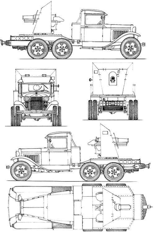 SU-1-1 76.2mm GAZ-AAA SPG (1927)