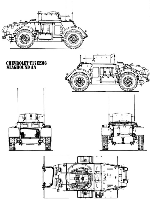 T-17-E2 M6 Staghound AA