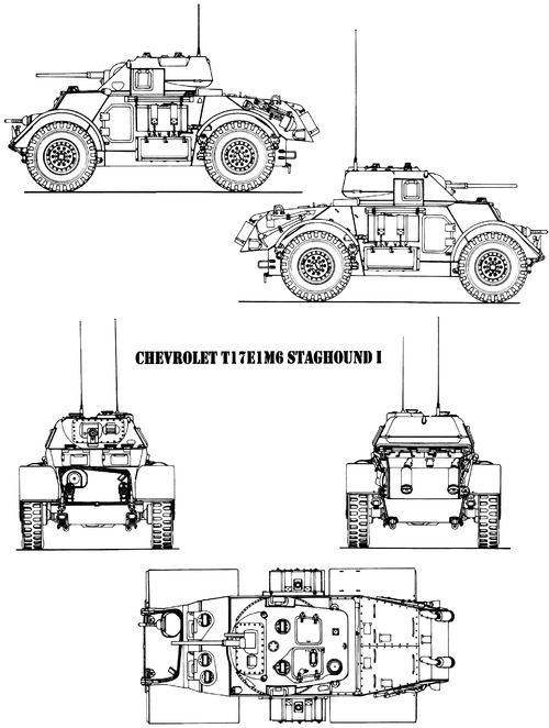T-17E1 M6 Staghound Mk.I