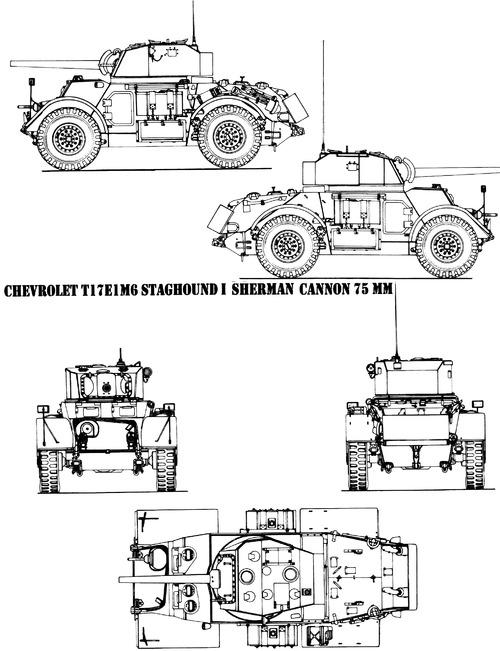 T-17E1 M6 Staghound Mk.I 75mm