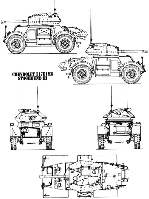 T-17E1 M6 Staghound Mk.II I