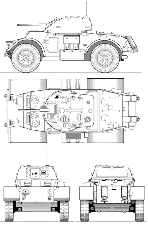 T-17E1 Staghound Armoured Car