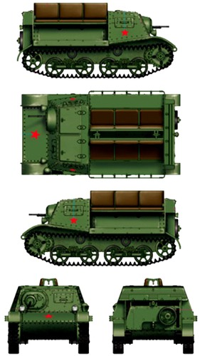 T-20 Komsomolets 1938 Armored Tractor