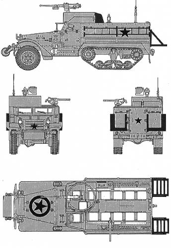 U.S. Armoured Personnel Carrier M3A2 Half Track
