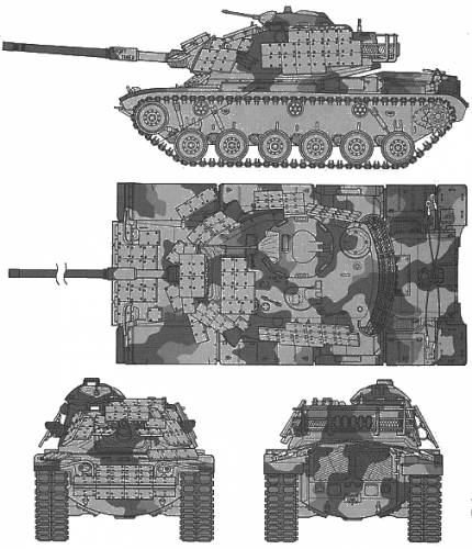 U.S. M60A1 S Reactive Armor