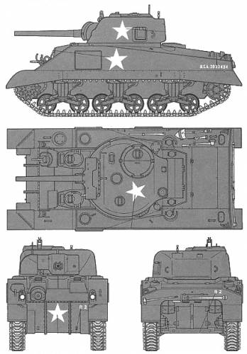 U.S. Medium Tank M4 Sherman (Early Production)