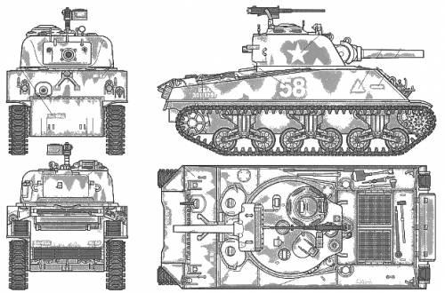 U.S. Medium Tank M4A3 Sherman 105mm Howitzwr